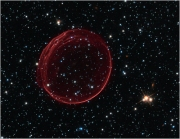 giant red bubble in space