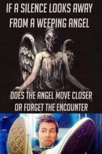if silence looks away from a weeping angel
