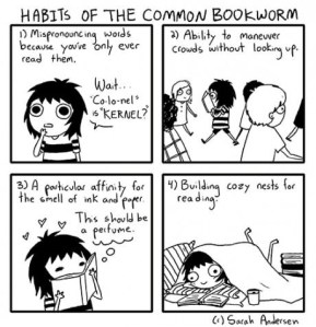 habits of the common book worm