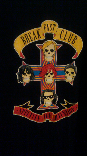 Breakfast Club--Guns N Roses shirt