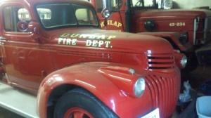 classic dunlap fire truck