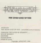 apostasy - the seven eyes of god