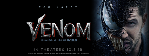 venom movie banner
